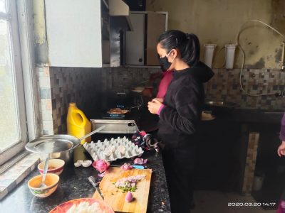 Cooking and mealtimes at the Edith Wilkins Street Children Foundation, India in Darjeeling
