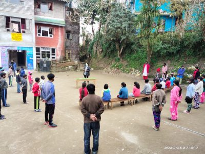 Daytime activities at the Edith Wilkins Street Children Foundation, India in Darjeeling