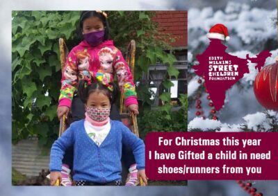 For Christmas this year, I have Gifted a child in need SHOES/RUNNERS from you!